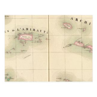 Îles Océanie d'Amirauté aucun 24 Carte Postale