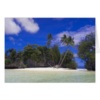 Îles Palaos de roche Carte De Vœux