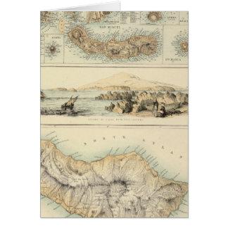 Îles portugaises dans l'Océan Atlantique Carte De Vœux