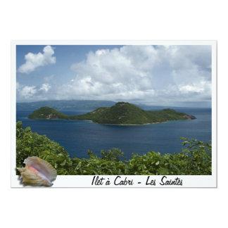 Ilet à  cabri- Les Saintes- Guadeloupes Carton D'invitation 12,7 Cm X 17,78 Cm