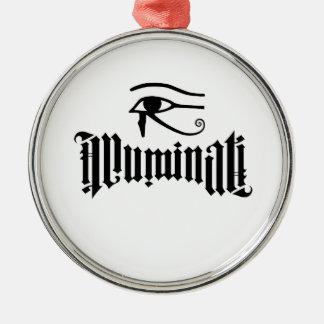 Illuminati Ornement Rond Argenté
