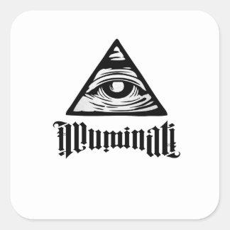 Illuminati Sticker Carré