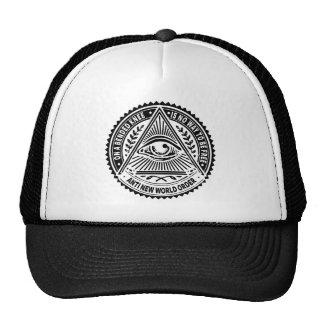 Illuminati - sur un genou plié n'est aucune casquette trucker