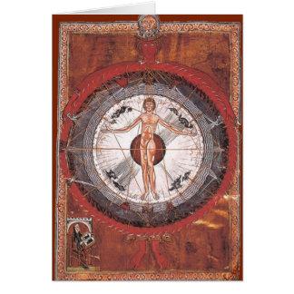 Illumination de saint Hildegard Carte De Vœux