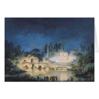 Illumination du belvédère au carte de vœux