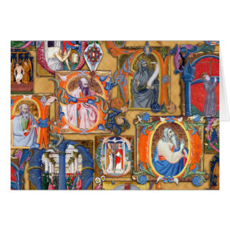 Illuminations médiévales carte de vœux