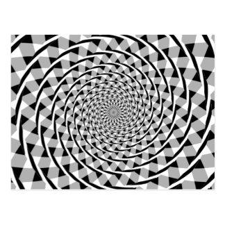 Illusion en spirale de Fraser Cartes Postales