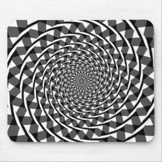 Illusion en spirale de Fraser Tapis De Souris