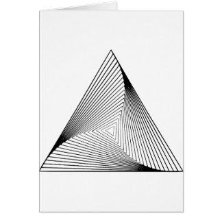 illusion optique de la triangle 3d cartes