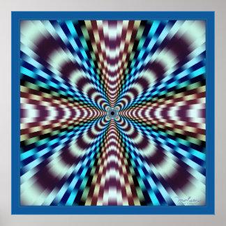 Illusion optique de vibrations époustouflantes posters