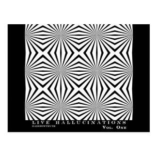 Illusion optique d'hallucinations vivantes de carte postale
