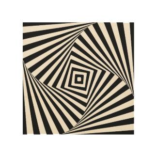 Illusion optique impression sur bois