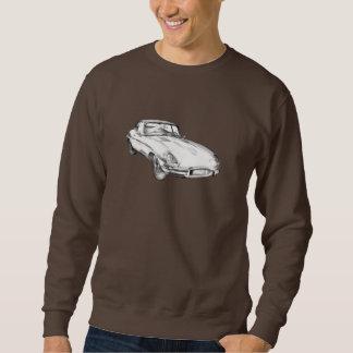 Illustration 1964 antique de voiture de sport de sweatshirt