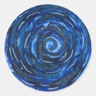 illustration #2 de spirale d'indigo de Chakra de Sticker Rond