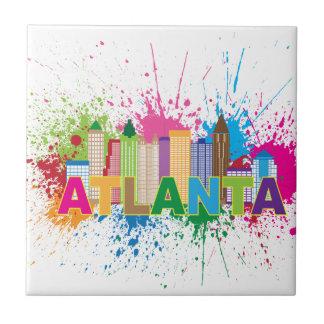 Illustration abstraite d'horizon d'Atlanta la Petit Carreau Carré