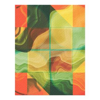 Illustration abstraite prospectus 21,6 cm x 24,94 cm