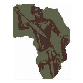 Illustration africaine de guerrier de carte de