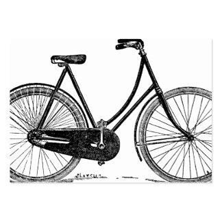 Illustration antique vintage de silhouette de bicy carte de visite grand format