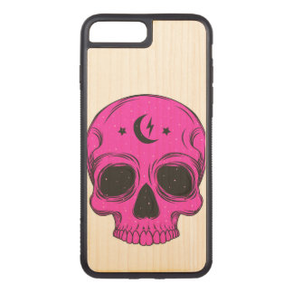 Illustration artistique de crâne coque carved iPhone 8 plus/7 plus