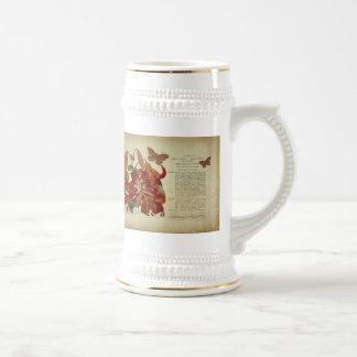 Illustration botanique de lis tigré vintage mugs à café