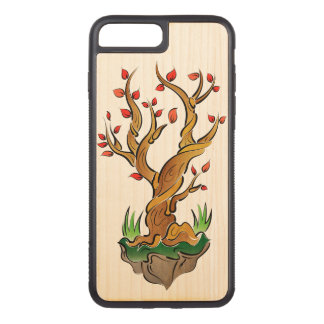 Illustration colorée d'arbre coque carved iPhone 8 plus/7 plus