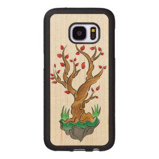 Illustration colorée d'arbre coque en bois galaxy s7