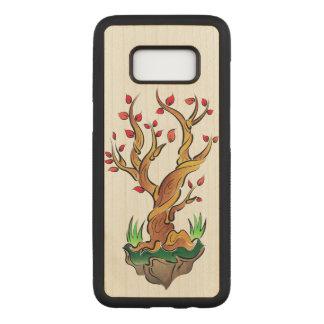 Illustration colorée d'arbre coque en bois samsung galaxy s8