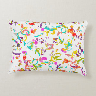 Illustration colorée de lancer de confettis coussins décoratifs