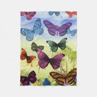 Illustration colorée de papillons d'aquarelle