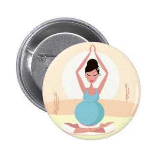 Illustration créative de fille de yoga : T-shirts Badge