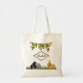 Illustration d'animal de jungle de safari sac