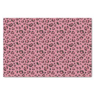 Illustration d'animal de rose de léopard papier mousseline