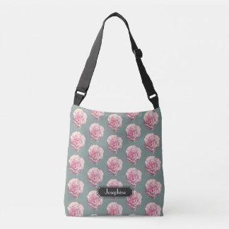 Illustration d'aquarelle de rose de rose avec le sac