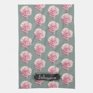 Illustration d'aquarelle de rose de rose avec le serviette pour les mains