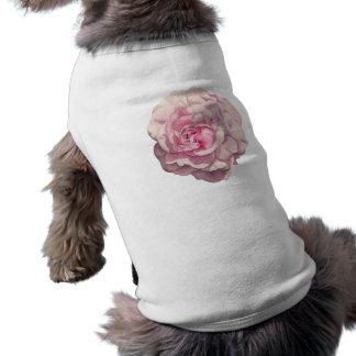 Illustration d'aquarelle de rose de rose t-shirt pour chien