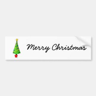 Illustration d'arbre de Noël Autocollant Pour Voiture