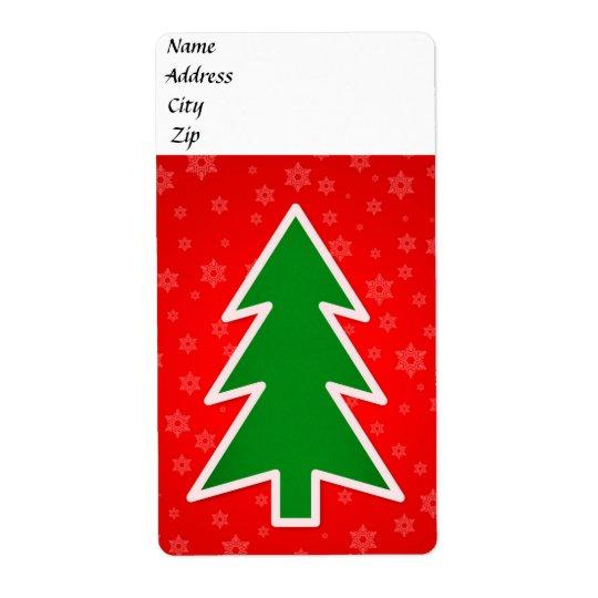 Illustration d'arbre de Noël Étiquette D'expédition