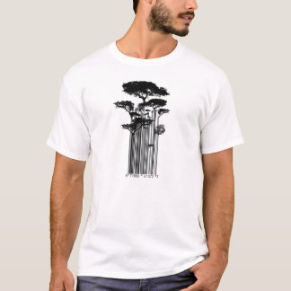 Illustration d'arbres de code barres t-shirt