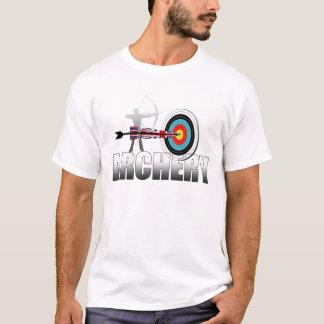 Illustration d'archers de cible de Londres de tir T-shirt
