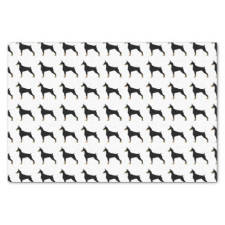 Illustration de base de race de chien de Pinscher Papier Mousseline
