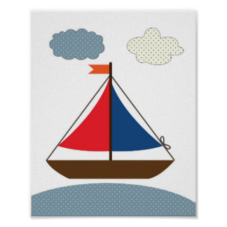 Illustration de bateau de crèche pour les salles n poster