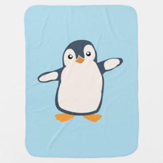 Illustration de bébé d'étreinte de pingouin couvertures pour bébé