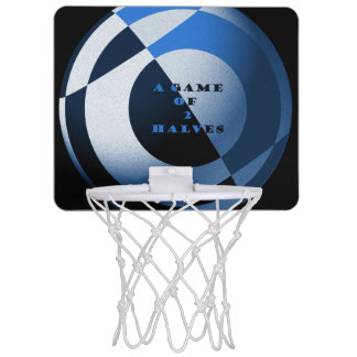 Illustration de bleu du football mini-panier de basket