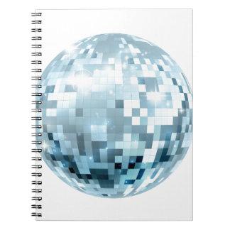Illustration de boule de disco carnet à spirale