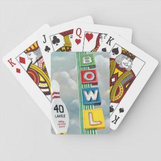 Illustration de bowling cartes à jouer
