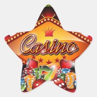 Illustration de casino avec les éléments de jeu sticker étoile