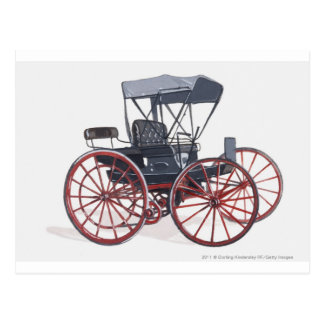 Illustration de chariot horseless cartes postales