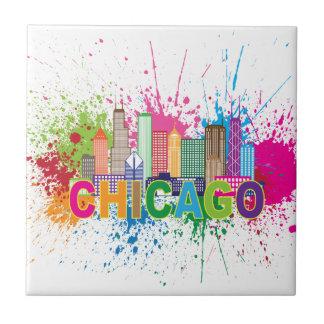Illustration de couleur d'abrégé sur horizon de petit carreau carré
