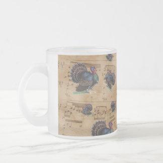 Illustration de cru de la Turquie de thanksgiving Mug En Verre Givré