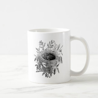 illustration de cru de nid d'oiseau mug